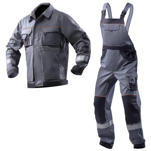 Костюм рабочий хлопковый AURUM JB серый