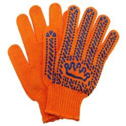 Перчатки трикотажные в ПВХ точку Корона 5612