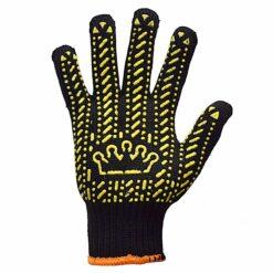 Перчатки трикотажные в ПВХ точку Корона 5611