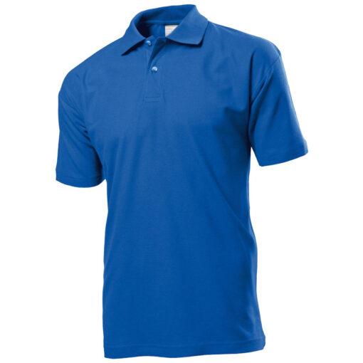 Тенниска поло B&C синяя