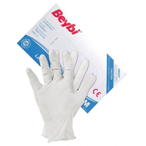 Перчатки одноразовые латексные BEYBI W