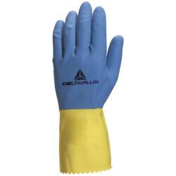 Перчатки рабочие латексные DELTA PLUS DUOCOLOR VE330