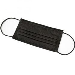 Маска медична тришарова FACE MASK BLACK (упаковка 50 штук)
