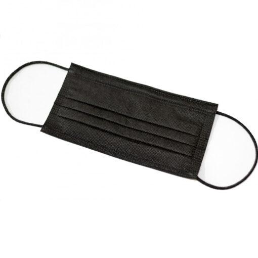 Маска медицинская трехслойная FACE MASK BLACK (упаковка 50 штук)