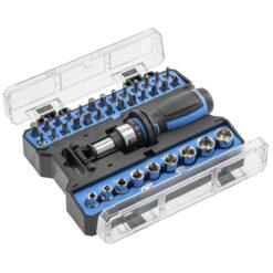Отвертка с храповым механизмом и набором насадок HOGERT HT1S101